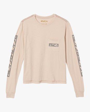 5 Reflector Long Sleeve T-Shirt Pink W456SRRE RVCA