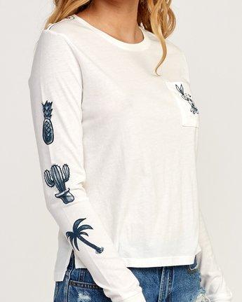 3 Pommier Bunny Mask Long Sleeve T-Shirt White W456TRBU RVCA