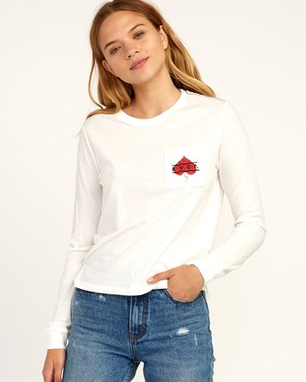 0 Tom Gerrard Foliage Long Sleeve T-Shirt White W456TRFO RVCA