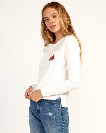 1 Tom Gerrard Foliage Long Sleeve T-Shirt White W456TRFO RVCA