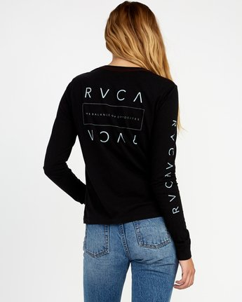 3 Upside Long Sleeve T-Shirt Black W456TRUP RVCA