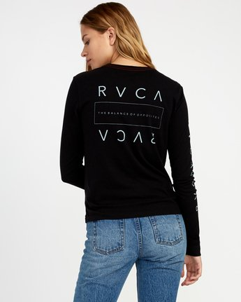 0 Upside Long Sleeve T-Shirt Black W456TRUP RVCA