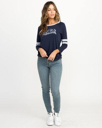 4 Trippy Tri-Blend T-Shirt Blue W457QRTR RVCA