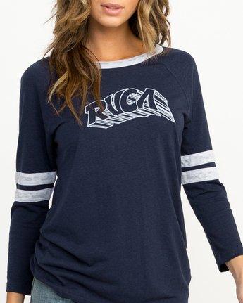 3 Trippy Tri-Blend T-Shirt Blue W457QRTR RVCA