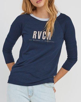 3 Marisol Burnout Ringer T-Shirt Grey W457SRMA RVCA
