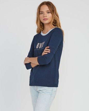 1 Marisol Burnout Ringer T-Shirt Grey W457SRMA RVCA