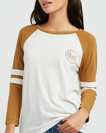3 Slite Script Burnout Ringer T-Shirt Yellow W457SRSL RVCA