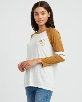 1 Slite Script Burnout Ringer T-Shirt Yellow W457SRSL RVCA