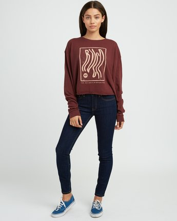 4 Longshore Knit T-Shirt Pink W458SRLO RVCA