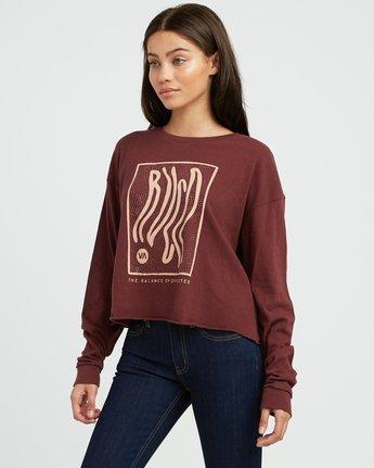 1 Longshore Knit T-Shirt Pink W458SRLO RVCA