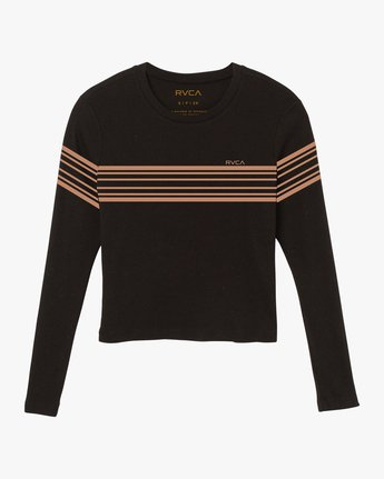 5 Liner Note Long Sleeve T-Shirt Black W459SRLI RVCA