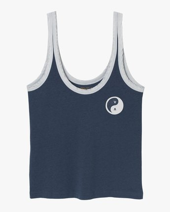 5 Contrary Ringer Tank Top Blue W471TRCO RVCA