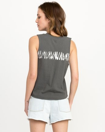 2 Dry Brush Knotted Tank Top Grey W494QRDR RVCA