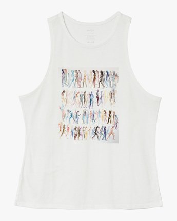 5 Michelle Blade Walkers Tank Top White W498QRWA RVCA
