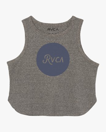 5 Dottie Cropped Tank Top Grey W499SRDO RVCA