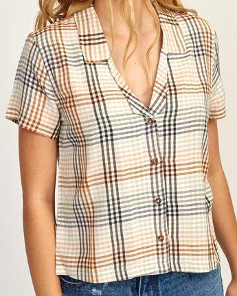 4 London Plaid Button-Up Shirt Black W501TRLO RVCA