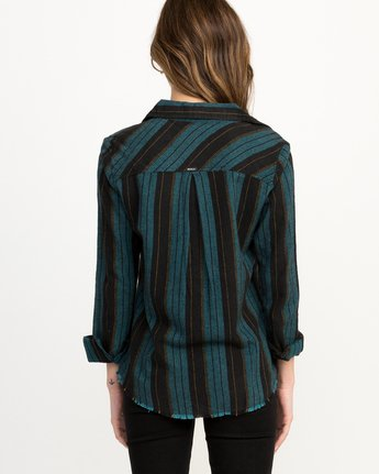 2 Arch Striped Button-Up Flannel Top  W502QRAR RVCA