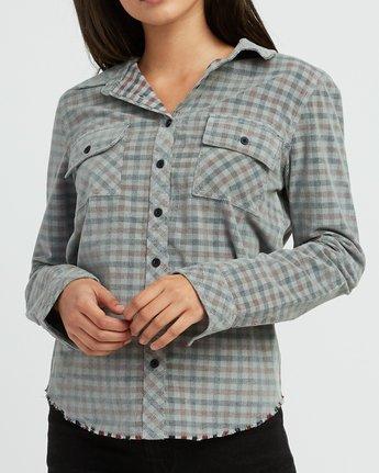 4 Buffalo Corduroy Button-Up Shirt Pink W512SRBU RVCA
