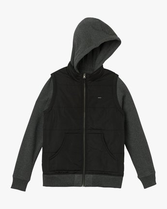 5 Eternal Quilted Fleece Jacket Black W601QRET RVCA