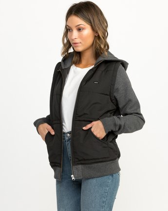 1 Eternal Quilted Fleece Jacket Black W601QRET RVCA