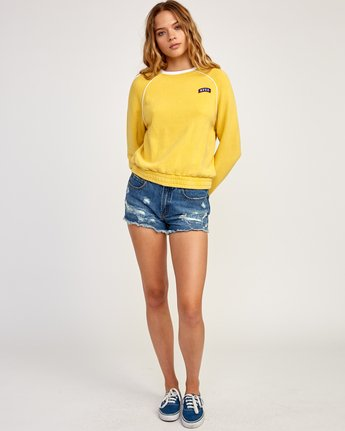5 Hangtown Fleece Sweatshirt Yellow W601TRHF RVCA