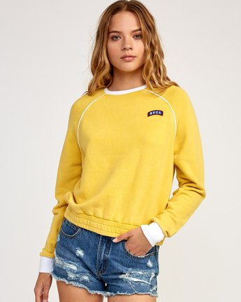 1 Hangtown Fleece Sweatshirt Yellow W601TRHF RVCA