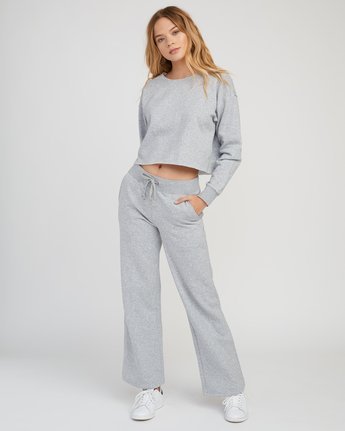 4 Stranger Cropped Sweater Grey W603SRST RVCA