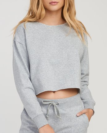 3 Stranger Cropped Sweater Grey W603SRST RVCA