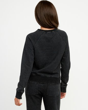 2 Shadethrow Fleece Sweatshirt Black W604QRSH RVCA