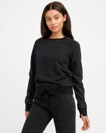 0 Shadethrow Fleece Sweatshirt Black W604QRSH RVCA