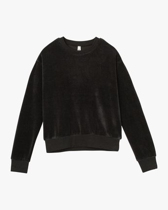 5 Babs Velour Fleece Sweater Black W606SRBA RVCA