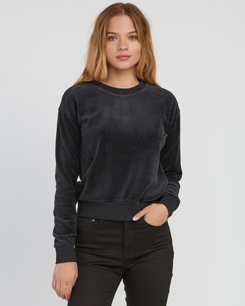 0 Babs Velour Fleece Sweater Black W606SRBA RVCA