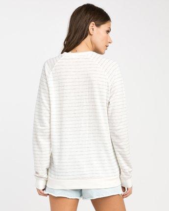 2 Skratch Fleece Sweatshirt White W608PRSK RVCA