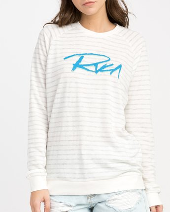 3 Skratch Fleece Sweatshirt White W608PRSK RVCA