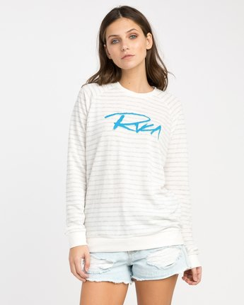 0 Skratch Fleece Sweatshirt White W608PRSK RVCA