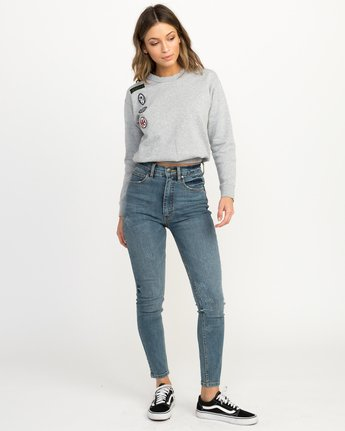 4 Joe Grillo Patch Sweatshirt Grey W608QRGR RVCA