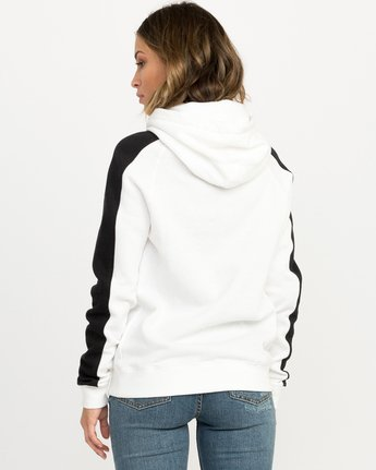 2 Pinner Colorblocked Hoodie White W612QRRV RVCA