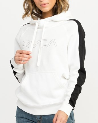 3 Pinner Colorblocked Hoodie White W612QRRV RVCA