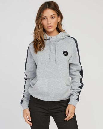 0 Motors Patch Colorblocked Hoodie  W612SRMO RVCA