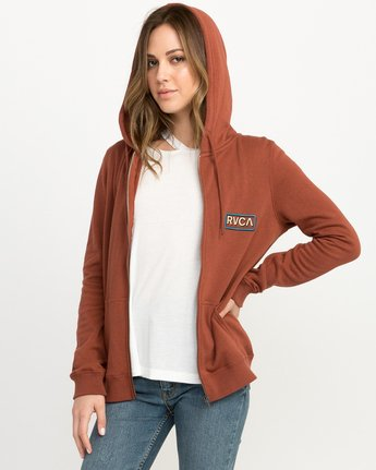 1 Octane Zip Up Hoodie  W616QROC RVCA