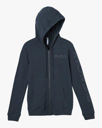 5 Pinned Zip Up Hoodie Grey W616SRPI RVCA