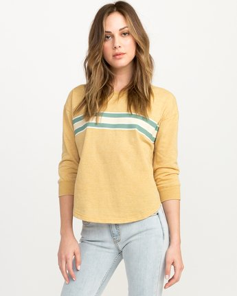 0 Day Stripe Pullover Crew Sweatshirt  W617QRDA RVCA