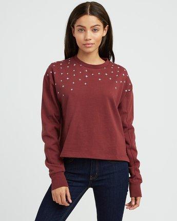 0 Stargazing Crew Sweatshirt Pink W619SRST RVCA