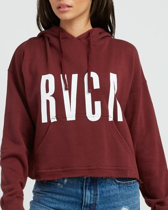 3 Freshman Cropped Hoodie Pink W621SRFR RVCA