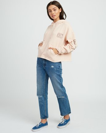 4 Venetian Cropped Hoodie Pink W621SRVE RVCA