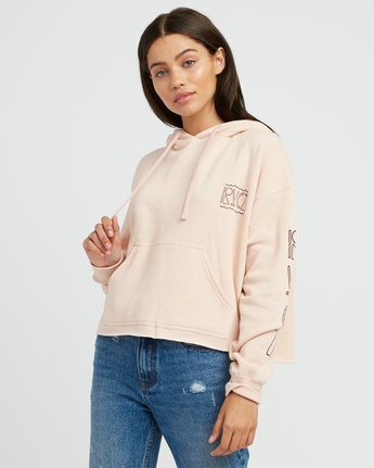 0 Venetian Cropped Hoodie Pink W621SRVE RVCA
