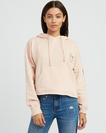 1 Venetian Cropped Hoodie Pink W621SRVE RVCA