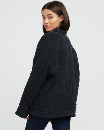 3 Carton Quilted Jacket Black W702SRCA RVCA