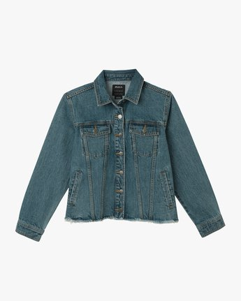 5 Pause It Denim Jacket Blue W702TRPA RVCA