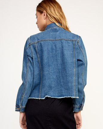 2 Pause It Denim Jacket Blue W702TRPA RVCA
